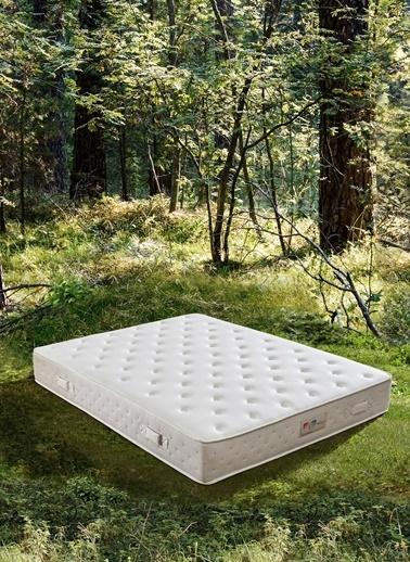 Hibboux Botanic Pocket Yaylı Yatak 140x190 Cm Beyaz